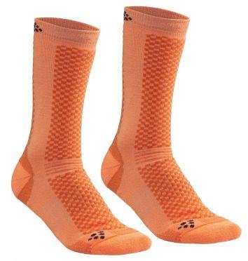 Craft warm mid sokken oranje 2-pack