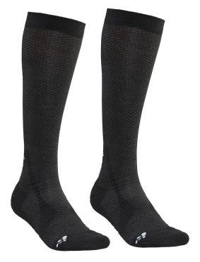 Craft warm hoge sokken zwart 2-pack