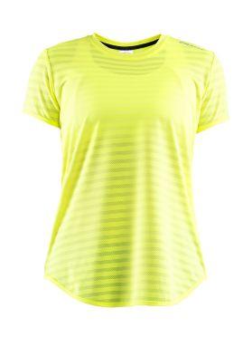 Craft Breakaway korte mouw hardloopshirt geel dames