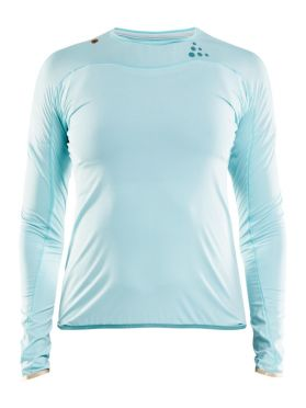 Craft Shade lange mouw hardloopshirt blauw dames