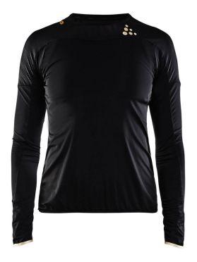 Craft Shade lange mouw hardloopshirt zwart dames
