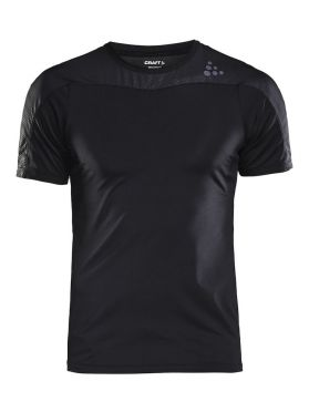 Craft Shade korte mouw hardloopshirt zwart heren