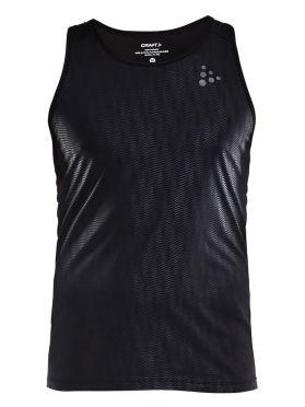 Craft Shade mouwloos hardloopshirt zwart heren