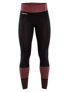 Craft Core block tight hardloopbroek zwart/red dames