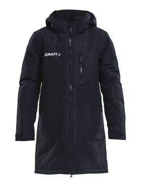 Craft Parkas trainings jas zwart junior
