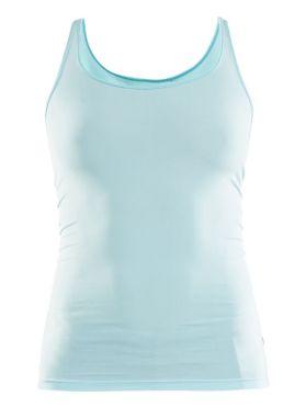 Craft Essential Singlet mouwloos ondershirt blauw/heal dames