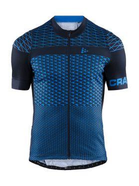 Craft Route fietsshirt korte mouw blauw heren