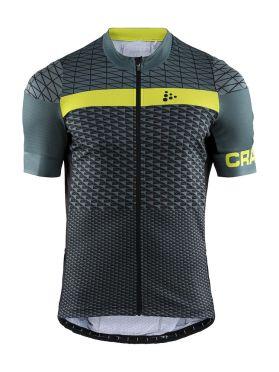 Craft Route fietsshirt korte mouw groen/geel heren