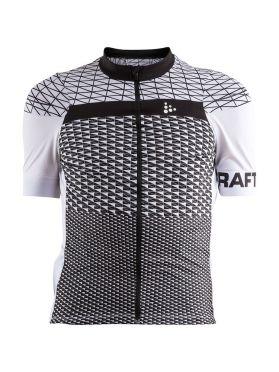 Craft Route fietsshirt korte mouw wit/zwart heren