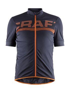 Craft Reel fietsshirt paars/oranje heren