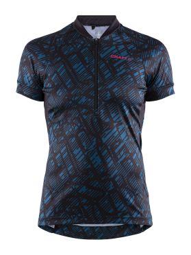Craft Velo Art fietsshirt zwart/blauw dames