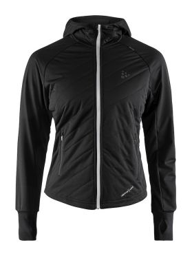 Craft Urban run warm hardloopjack zwart dames