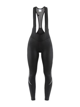 Craft Ideal Thermal bibtight fietsbroek zwart/strepen dames