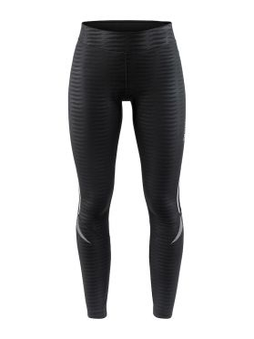 Craft Ideal Thermal tight fietsbroek zwart/strepen dames