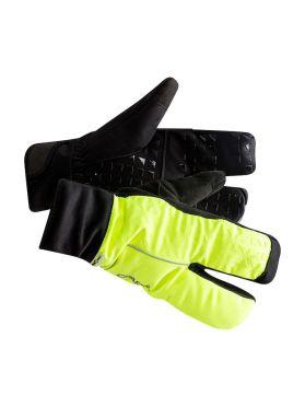 Craft Siberian 2.0 Split finger fietshandschoenen zwart/geel unisex