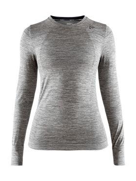 Craft Fuseknit comfort lange mouw ondershirt grijs dames