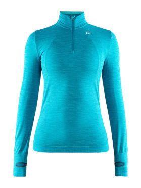 Craft Fuseknit comfort zip lange mouw ondershirt blauw dames