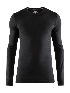 Craft Fuseknit comfort lange mouw ondershirt zwart heren