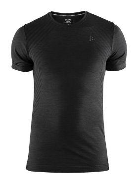 Craft Fuseknit comfort korte mouw ondershirt zwart heren
