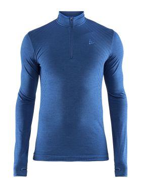 Craft Fuseknit comfort zip lange mouw ondershirt blauw heren