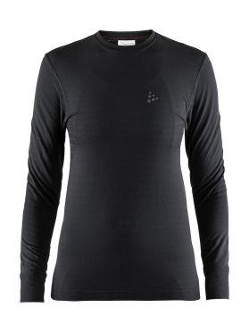 Craft Warm comfort lange mouw ondershirt zwart dames