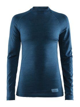 Craft Warm merino lange mouw ondershirt blauw dames