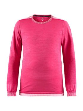 Craft Fuseknit comfort lange mouw ondershirt roze kind/junior