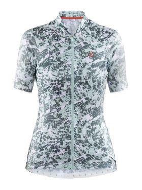 Craft Hale Graphic fietsshirt wit/groen dames