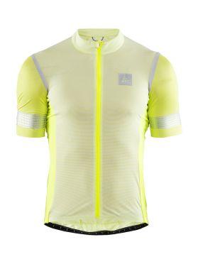 Craft Hale Glow fietsshirt geel/zilver heren