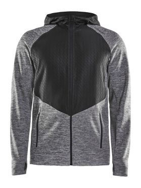 Craft Charge Sweat hood hardloopjack grijs heren