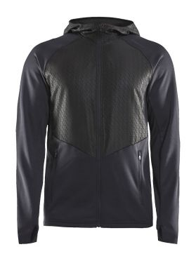 Craft Charge Sweat hood hardloopjack zwart heren