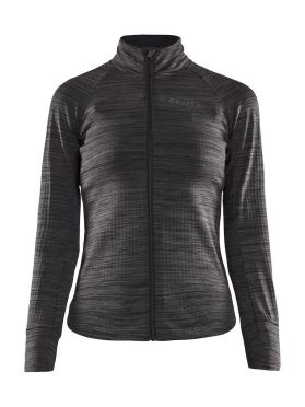 Craft Ideal Thermal fietsshirt lange mouw zwart/grijs dames