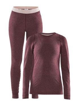 Craft Merino 180 onderkleding voordeelset rood dames