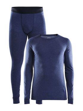 Craft Merino 180 onderkleding voordeelset blauw heren
