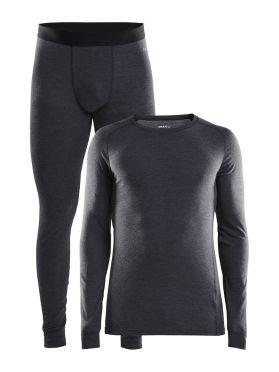 Craft Merino 180 onderkleding voordeelset zwart heren