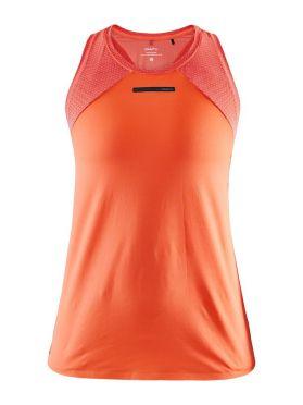 Craft Vent Mesh mouwloos hardloopshirt oranje dames