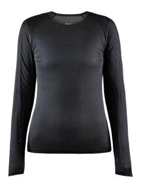 Craft Pro Dry Nanoweight lange mouw ondershirt zwart dames