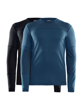 Craft Core Dry ondershirt 2-pack lange mouw zwart/blauw heren