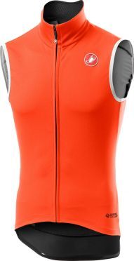 Castelli Perfetto RoS Vest mouwloos fietsshirt oranje heren