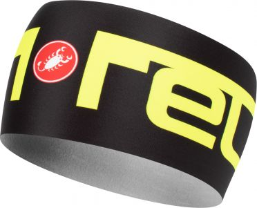 Castelli Viva 2 thermo hoofdband zwart/geel heren