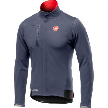 Castelli Double Espresso fietsjacket dark steel blauw heren