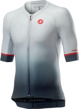 Castelli Aero race 6.0 korte mouw fietsshirt wit/grijs heren