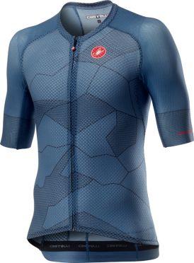 Castelli Climber's 3.0 korte mouw fietsshirt blauw heren