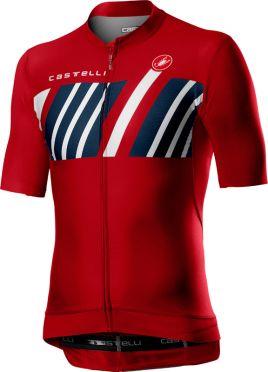 Castelli Hors Categorie korte mouw fietsshirt rood heren