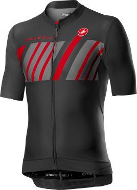 Castelli Hors Categorie korte mouw fietsshirt donkergrijs heren