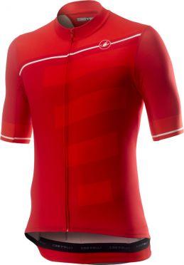 Castelli Trofeo korte mouw fietsshirt rood heren