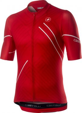 Castelli Passo korte mouw fietsshirt rood heren