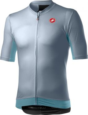 Castelli Vantaggio korte mouw fietsshirt grijs/blauw heren