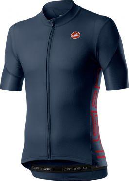 Castelli Entrata V korte mouw fietsshirt donkerblauw heren