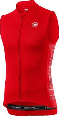 Castelli Entrata V mouwloos fietsshirt rood heren